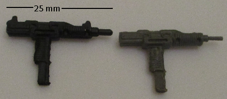 G I JOE Accessory                  SOUND ATTACK Black Uzi Machine gun